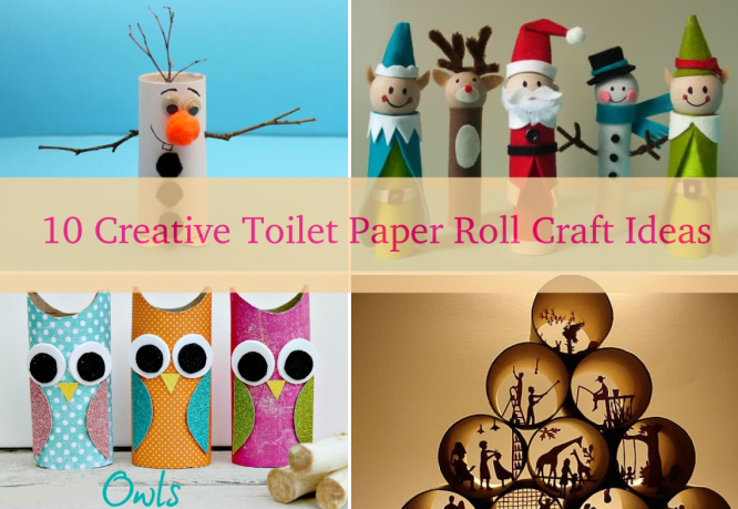 10 creative diy toilet paper roll craft ideas k4 craft for Creative craft ideas with paper