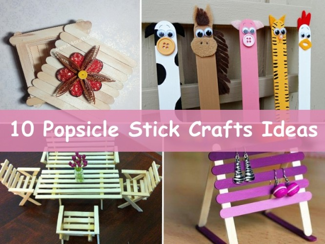 10 Easy Popsicle Stick Crafts Ideas