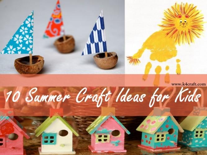 10 Diy Summer Craft Ideas For Kids K4 Craft
