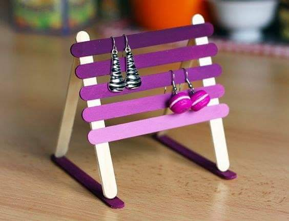3 Popsicle Stick Earring Stand
