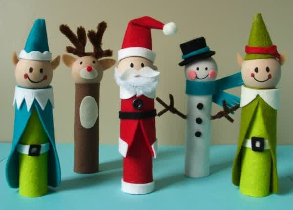 christmas craft ideas toilet rolls