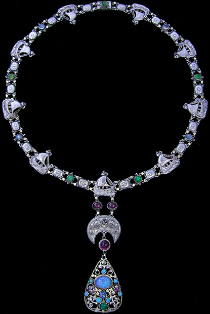 Gold Necklace Collection of Antique Jewellery by Famous Artists