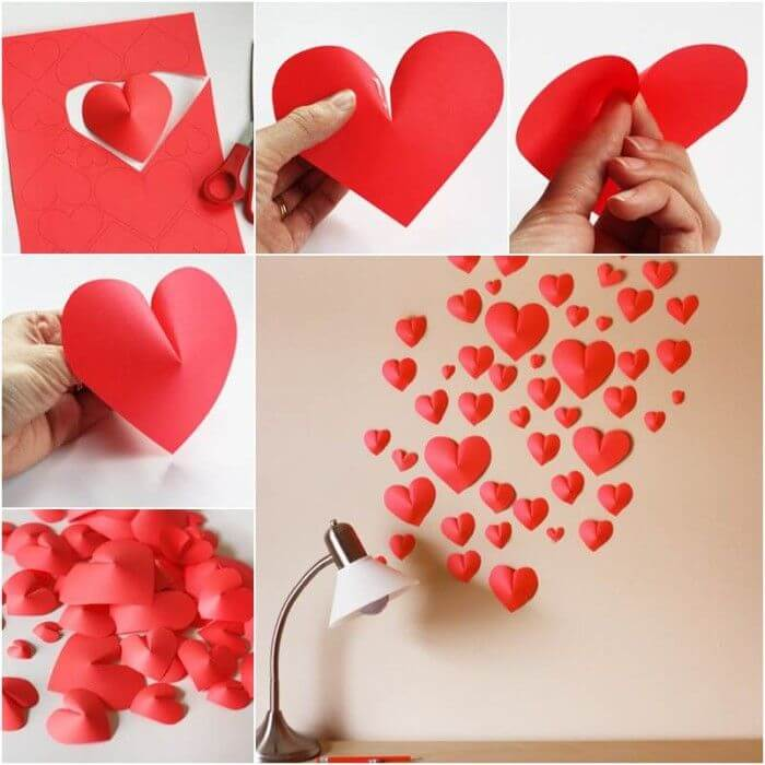 How-to-DIY-Creative-Paper-Hearts-Wall-Decor