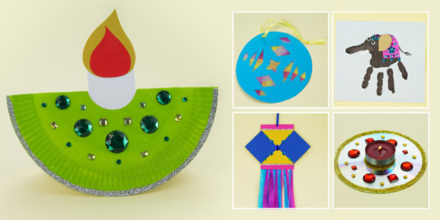 Diy diwali ideas for home decoration cards crafts for Art and craft for diwali decoration