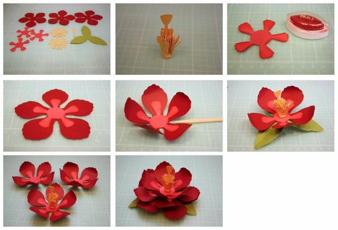 Paper Flower Craft Step By Diy Easy Making Tutorial K4