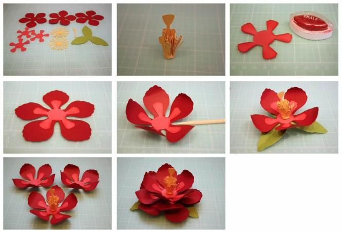 Diy Easy Flower Making Step By Tutorial K4 Craft