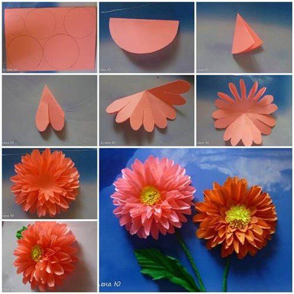 DIY Origami Flowers Step By Tutorials K4 Craft