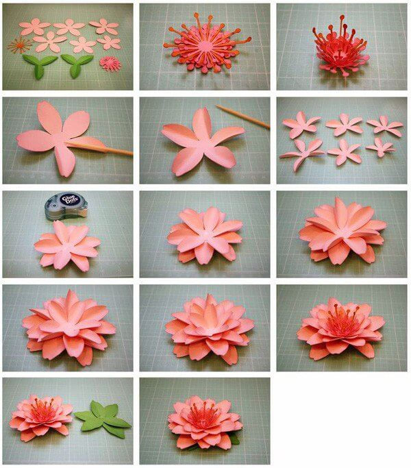 Origami Flower Step By Turorial 9