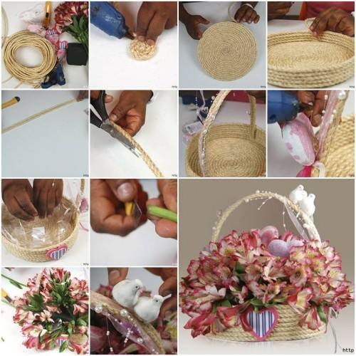 DIY Rope Gift Basket- Craft Tutorial Beautiful & Simple DIY Home Decoration Step by Step Tutorials
