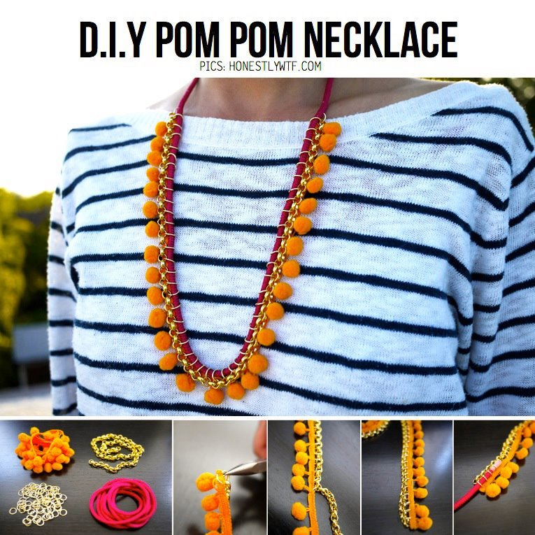 Pom-Pom-DIY-Necklace
