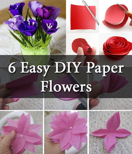 Diy Paper Flower Step By Step Making Tutorials K4 Craft