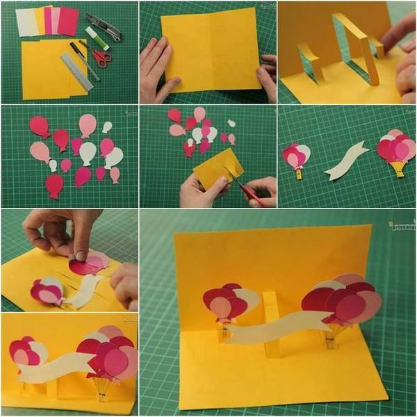 15 easy handmade birthday gift cards step by step k4 craft 3d card m4hsunfo
