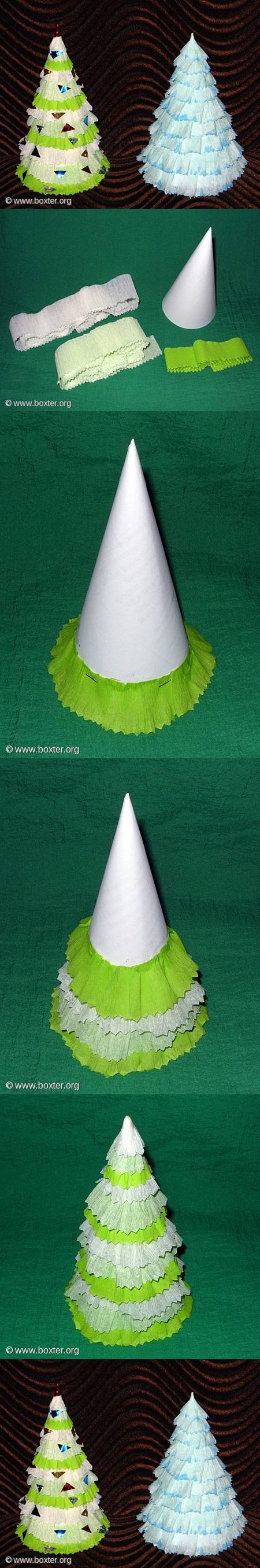 diy-crepe-paper-christmas-tree