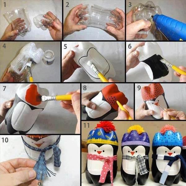 DIY-Plastic-Bottles-Snowman-idea