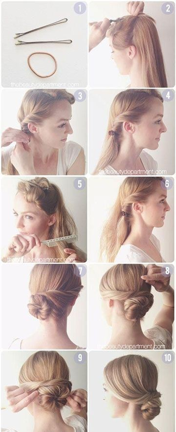 Hair-Tutorials-Diy-Hair-Easy-Bun-Updos