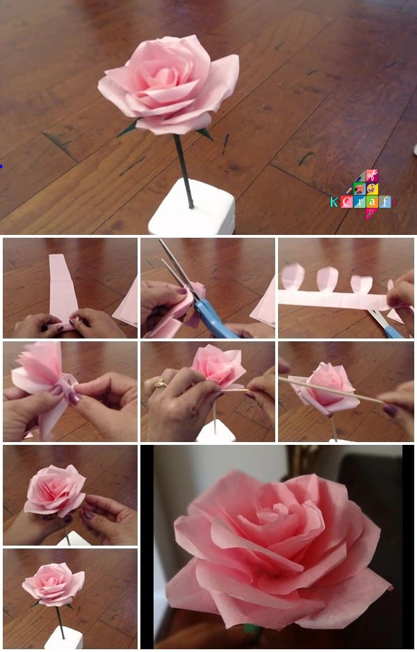 how-to-make-tissue-paper-rose-flower