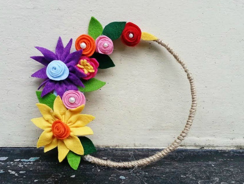 Diy learn to make beautiful flower using felt k4 craft for Make flower craft ideas