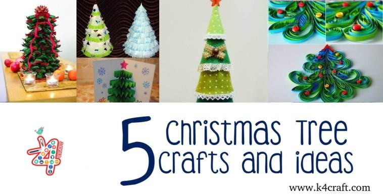 diy step by step christmas tree crafts for kids to make