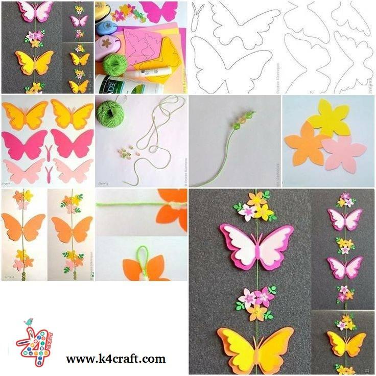 Paper Butterfly Tutorial K4craft K4 Craft