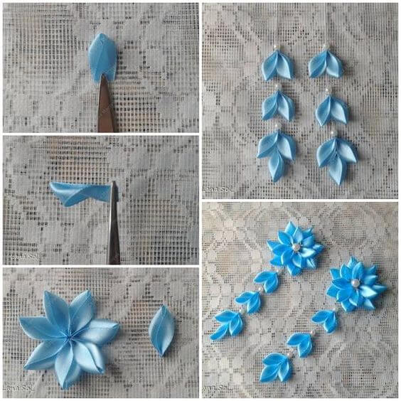 How To Make Ribbon Rose Craft
