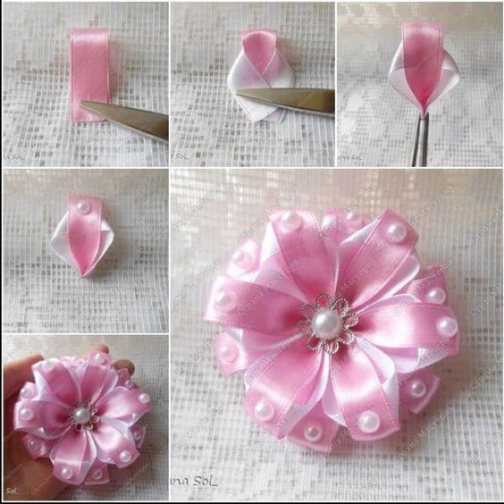 Paper Ribbon Flower Making Kaza Psstech Co