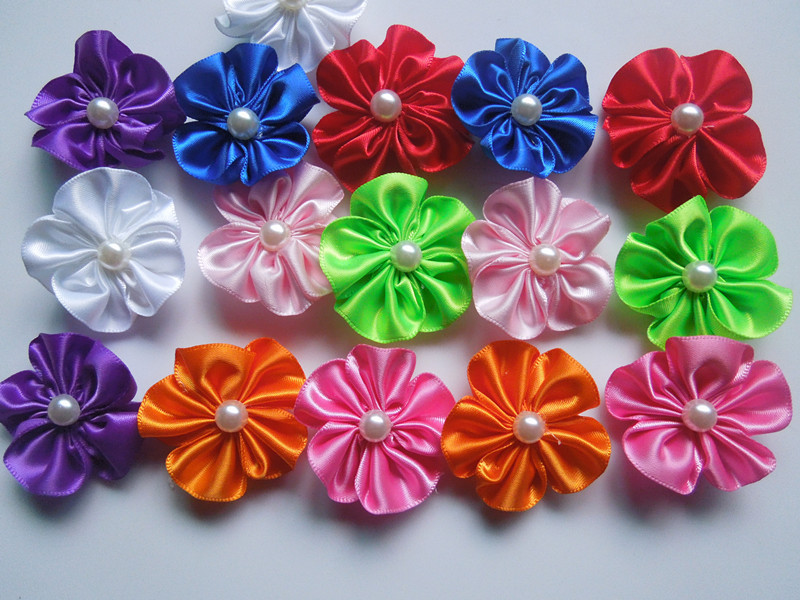 DIY: Make Simple Ribbon Flowers - Step by step - K4 Craft |How To Make Handmade Flowers From Ribbon Step By Step