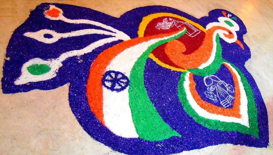 Beautiful-Independence-Day-Of-India-Rangoli-Design-Idea