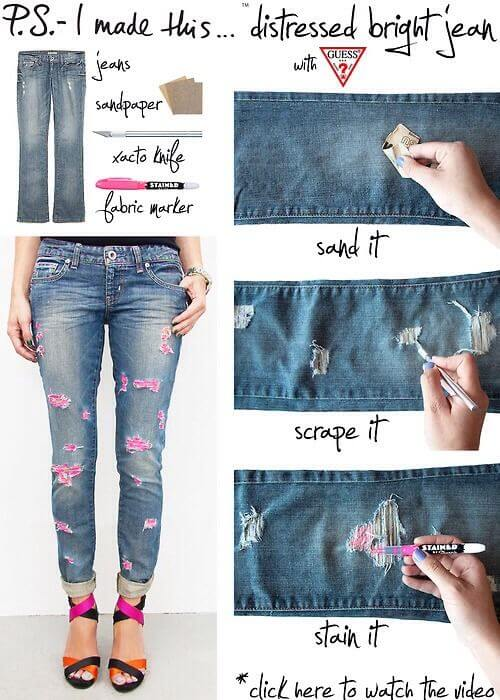 Colored-Distressed-Jeans