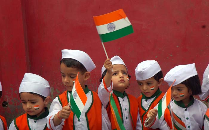 Cute-Kids-Celebrating-Independence-Day-Of-India