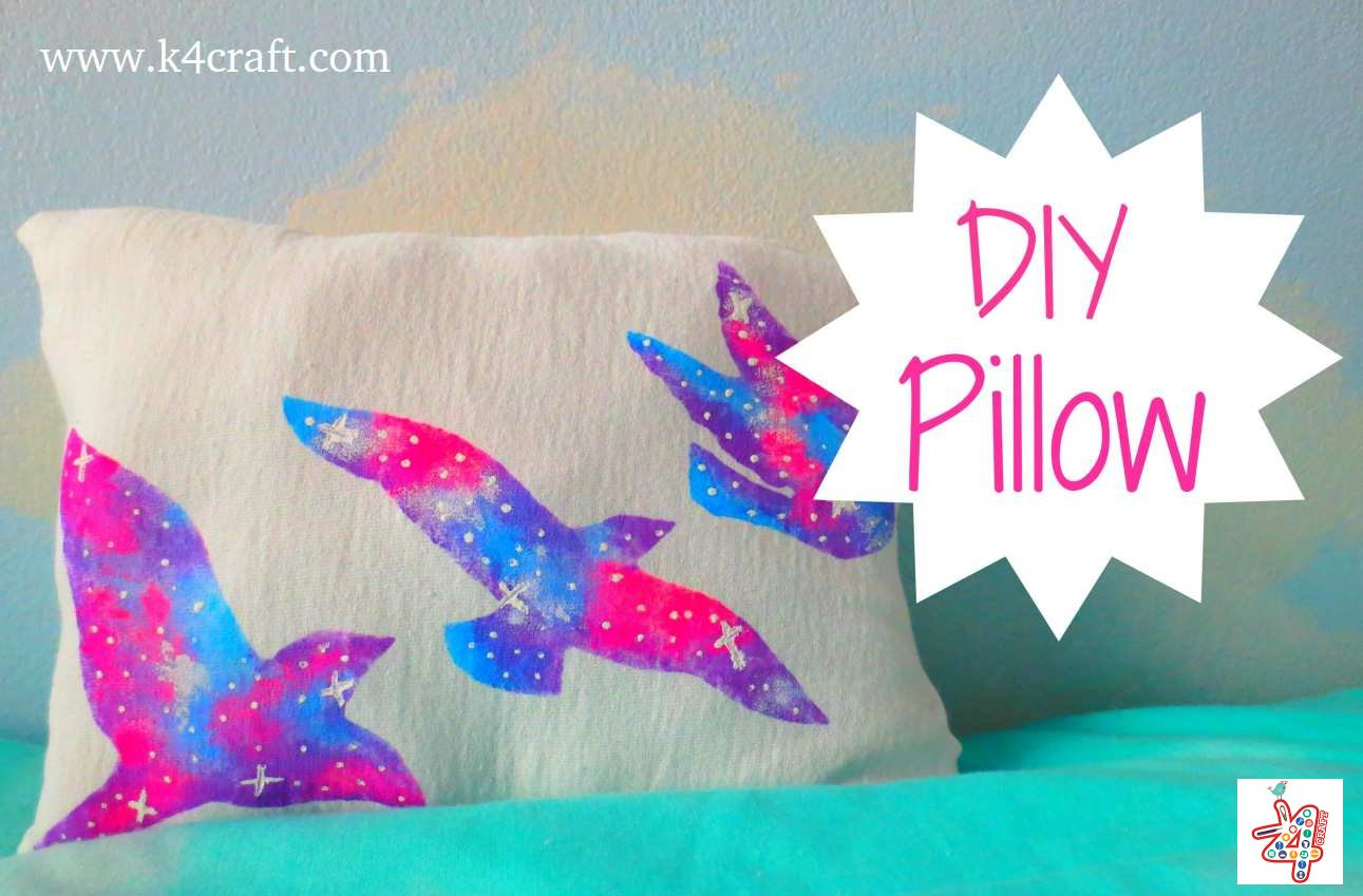 Diy Pillow Covers Ideas: Stylish DIY Pillow Craft Ideas   Step by step   K4 Craft,