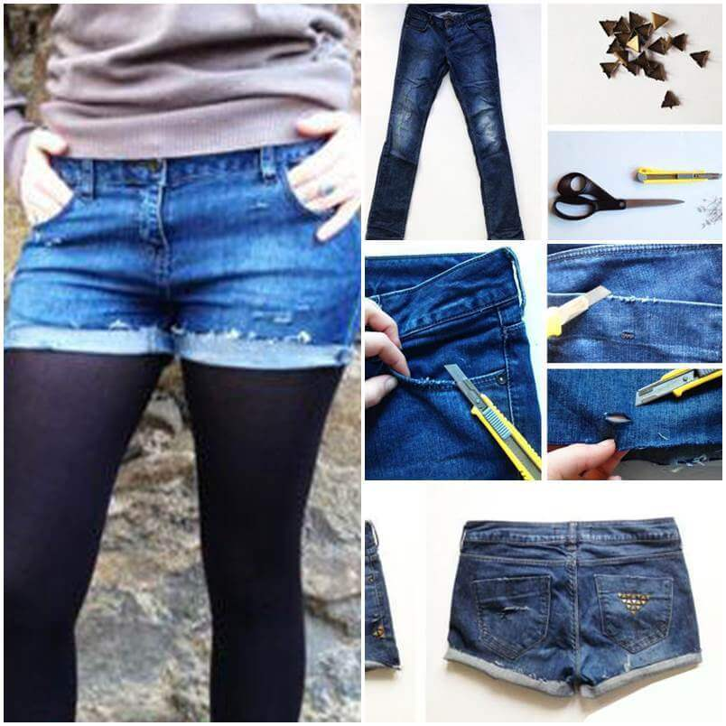 DIY-Studded-Shorts-from-Old-Jeans