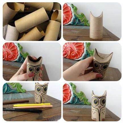 DIY Toilet Paper Roll Owl