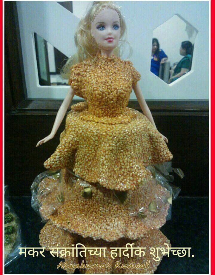 Bornahan craft ideas Sugar doll for decoration