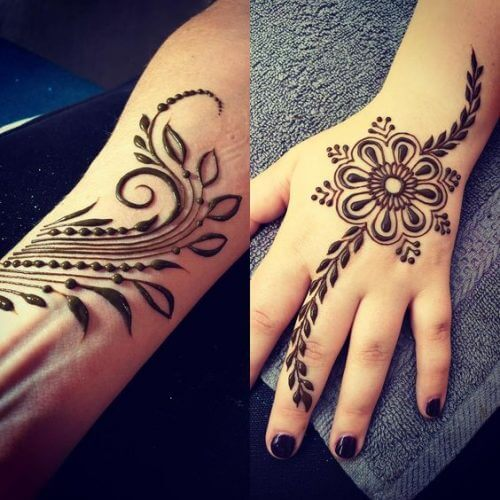 flowers-and-leaves-arabic-mehndi-designs