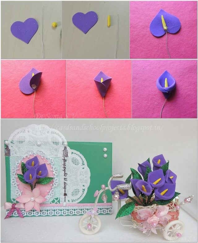 Foam sheet Card flower crafts