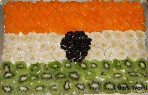 India Tri Color Fruit Salad Flag