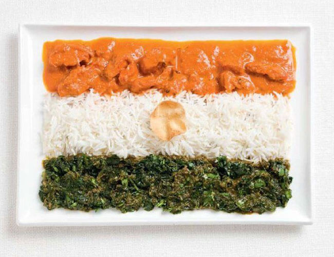 India Tri Color food decoration