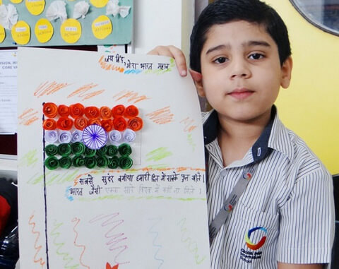 India Tri Color kids card making