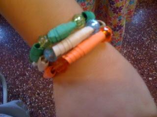 India Tri Color paper bracelet