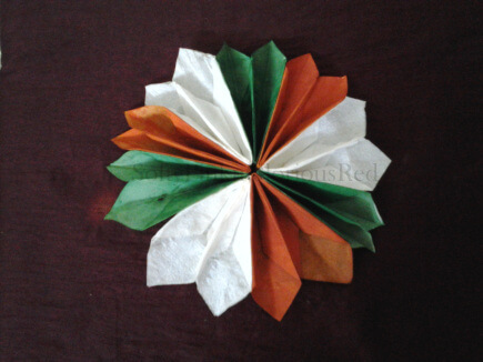 India Tri Color paper flower