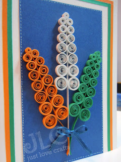 India Tri Color quilling card