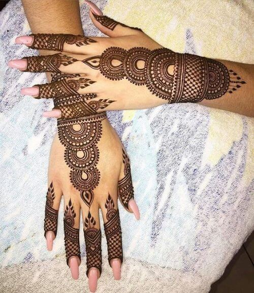 veil-and-tower-arabic-mehndi-tattoo