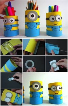 craft_foam_sheet_Minion_Pencil_Holders