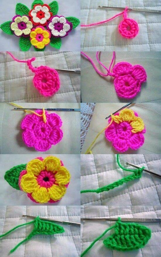 crochet-flower-step-by-step