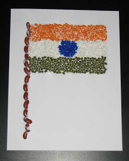 daal rajma India Tri Color flag
