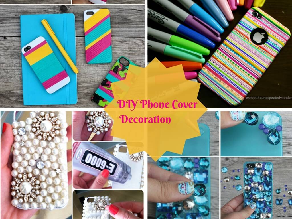 Diy easy mobile phone case decoration ideas step by step k4 craft solutioingenieria Choice Image