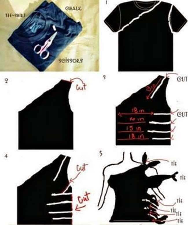 diy-one-side-tee