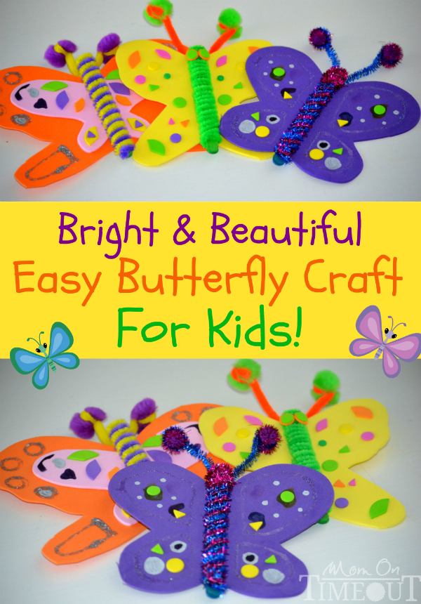 Butterfly Craft Ideas For Kids Part - 45: Easy-butterfly-craft-for-kids
