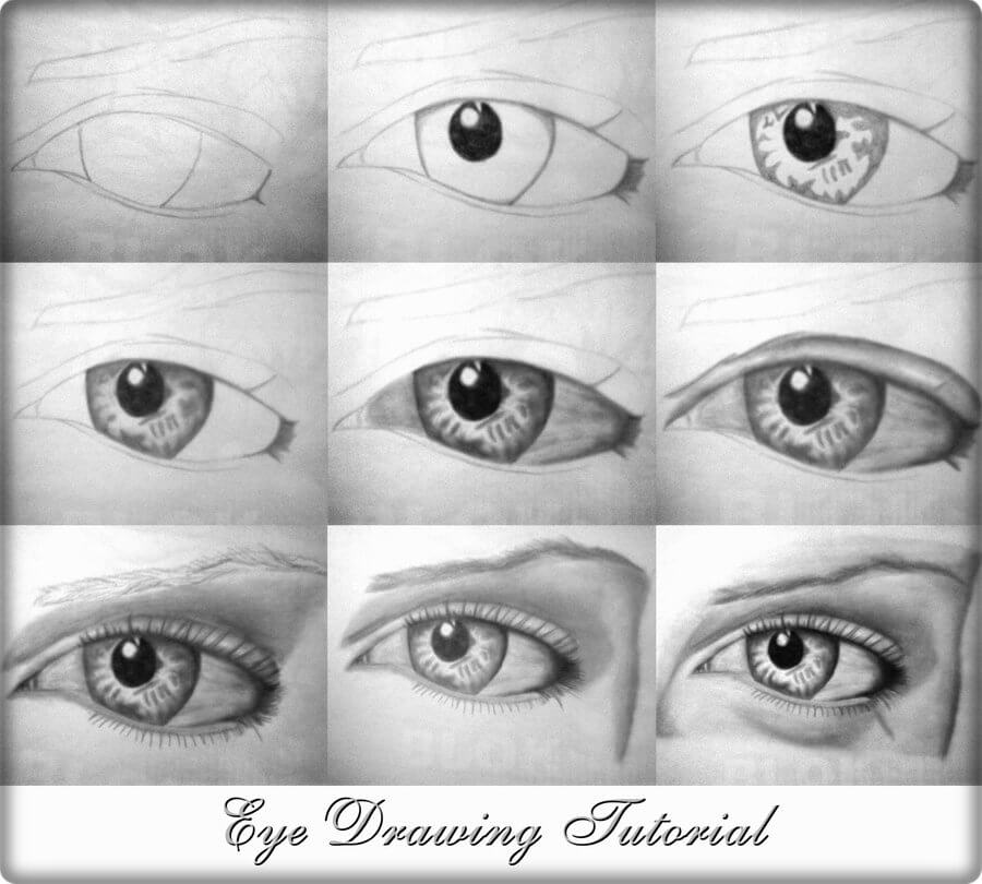 Scribble Eyes Drawing : Drawing lessons easy step by tutorials k