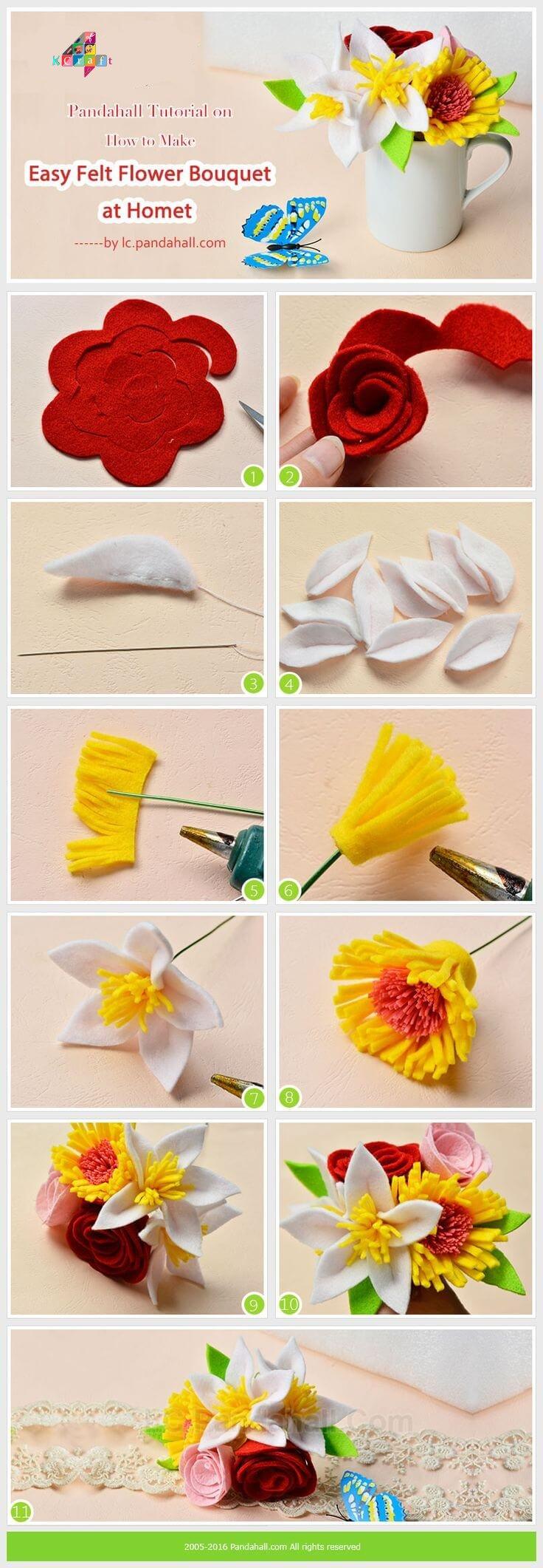 Felt flower bouquet k4 craft promote your art with k4craftfree promotion izmirmasajfo